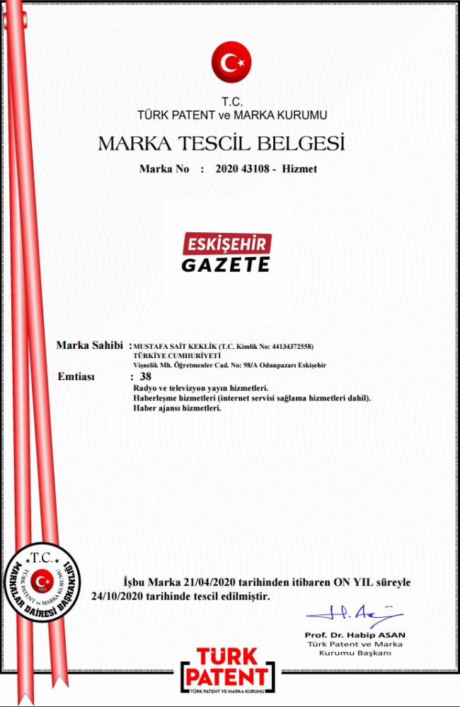 Eskişehir Gazete markasının online yayın sahibiyiz